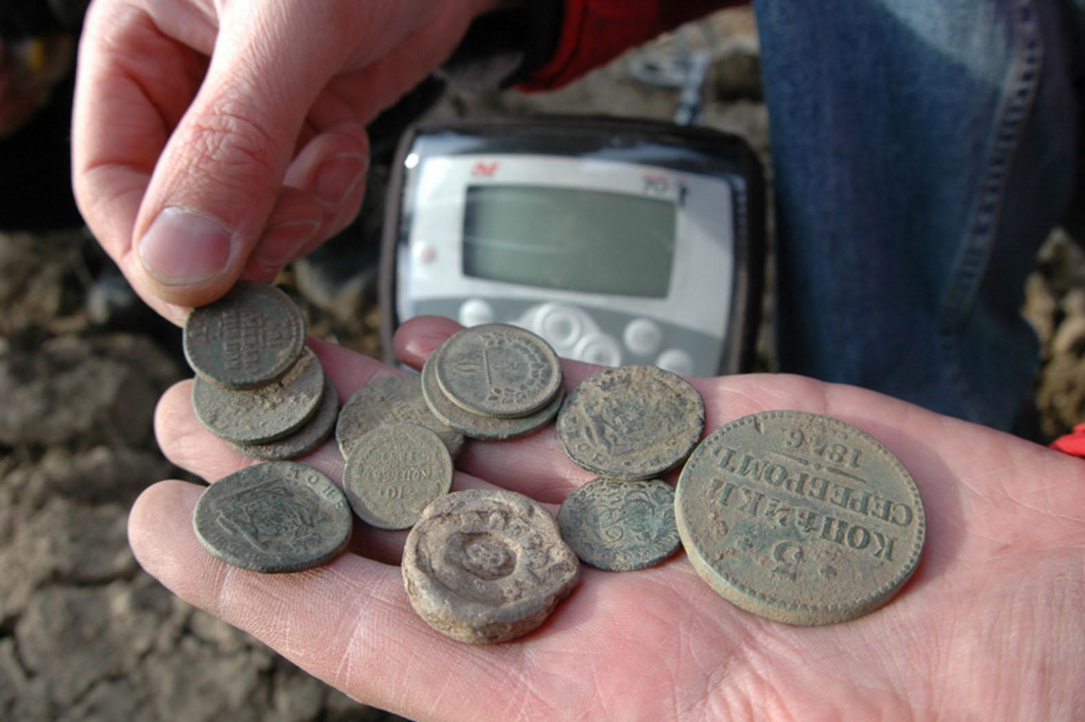 Где в тюменской области можно поискать монеты металлоискателем.